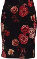 Dorothy Perkins Tall FLORAL Pencil skirt red