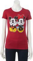 Disney Disney's Mickey & Minnie Mouse Juniors' Sitting Graphic Tee