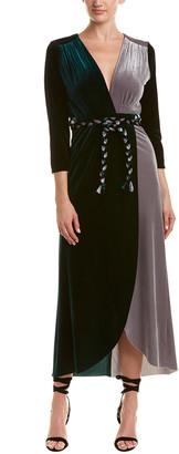 MISA Velvet Wrap Dress