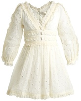 Zimmermann Winsome embroidered cotton-organdy dress