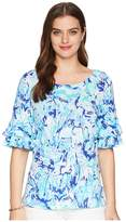 Lilly Pulitzer Lula Top Women's Clothing