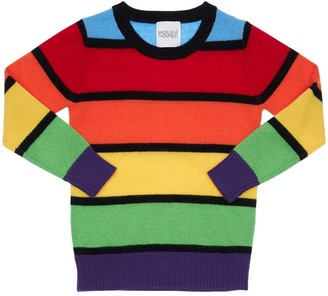 Madeleine Thompson Color Block Cashmere Knit Sweater