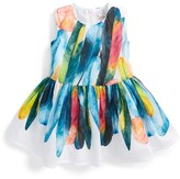 Halabaloo Infant Girl's Feather Graphic Fit & Flare Dress