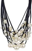 "Aqua Layered Statement Collar Necklace, 14"" - 100% Exclusive"