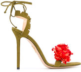 Charlotte Olympia carnation stiletto sandals - women - Calf Leather/Leather/Suede - 36