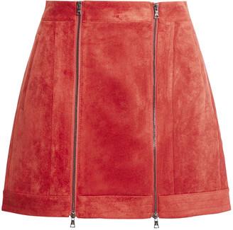 BCBGMAXAZRIA Faux Suede Mini Skirt