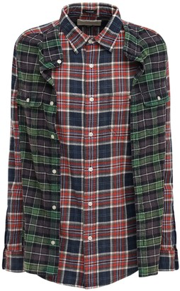 R 13 Check Double Flannel Shirt