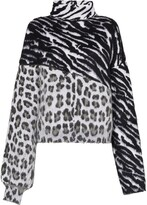 Unravel Project mixed animal print jumper