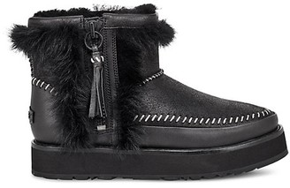 UGG Fluff Punk Leather Sheepskin Boots