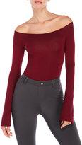 Olivaceous Off-The-Shoulder Bodysuit