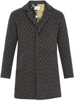 Etro Jacquard-knit Wool Coat