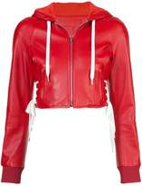 RED Valentino cropped hooded jacket