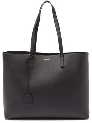 Saint Laurent Shopping Bag Leather Tote Bag - Womens - Black