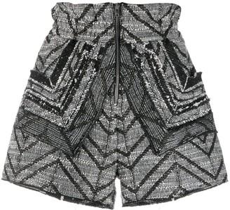 IRO Knitted High-Waisted Shorts
