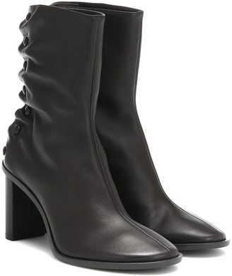 The Row Teamtime Snap leather ankle boots