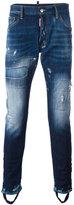 DSQUARED2 bleached distressed effect jeans - men - Cotton/Spandex/Elastane - 48