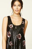 Forever 21 FOREVER 21+ Contemporary Floral Sequin Top