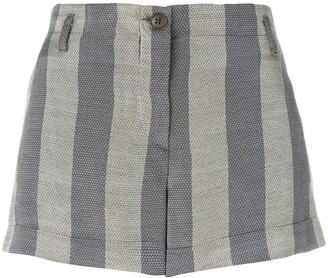 Giorgio Armani Pre-Owned Striped Mini Shorts