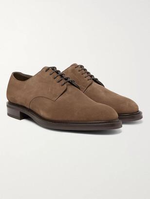 Edward Green Windermere Suede Derby Shoes - Men - Brown