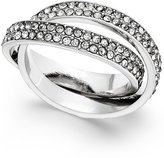 INC International Concepts Silver-Tone Pavé Interlocked Ring, Only at Macy's