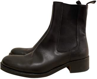 Pollini \N Black Leather Ankle boots
