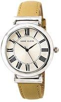 Anne Klein Women's AK/2137SVTN Beige Leather Casual Watch