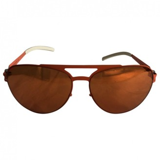 Mykita Orange Metal Sunglasses