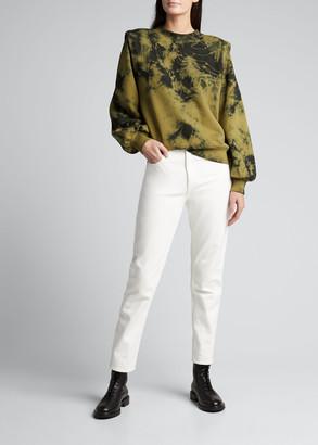 LES COYOTES DE PARIS Alison Cotton Tie Dye Sweatshirt