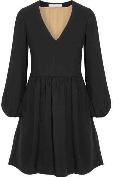 Chloé Crepe Mini Dress - Black