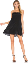 Anine Bing Silk Dress with Lace Trim