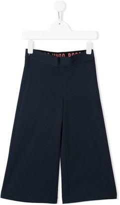 Boss Kidswear Cropped Wide-Leg Trousers