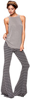 Saint Grace Moby Stripe Ashby Pant In Charcoal Cream