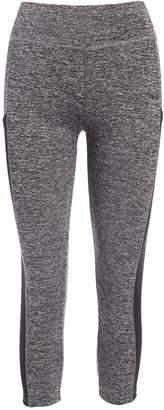 Crush Women's Leggings GRAY - Gray Mesh Stripe Capri Leggings - Women