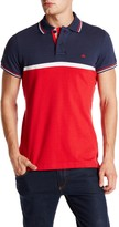 Micros Tailor Fit Short Sleeve Colorblock Polo