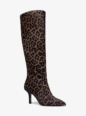 MICHAEL Michael Kors Katerina Leopard Calf Hair Knee-High Boot