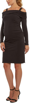 Stowaway Collection Maternity Off The Shoulder Dress