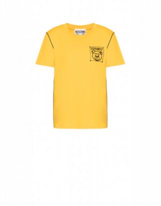 Moschino Jersey T-shirt Teddy Label Cornely Woman Yellow Size 38 It - (4 Us)