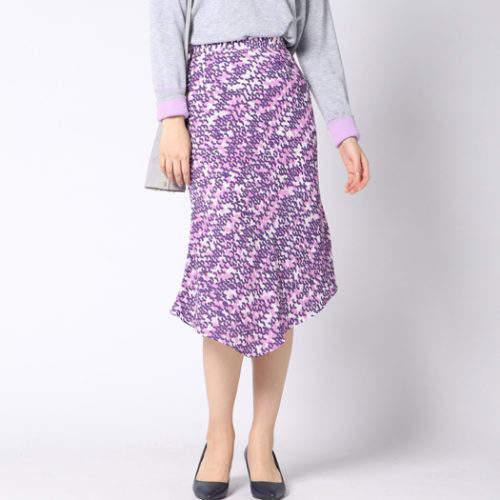 Vicky (ビッキー) - VICKY 幾何柄プリントアシメマーメイドスカート