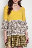 Umgee USA Print Peasant Dress