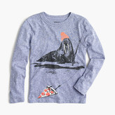 J.Crew Boys' long-sleeve walrus fishing T-shirt