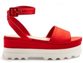 Miu Miu Bi-colour satin flatform sandals