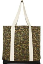 River Island MensGreen camo shopper