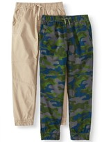 Wonder Nation Boys Jogger Pants, 2-Pack, Sizes 4-18 & Husky