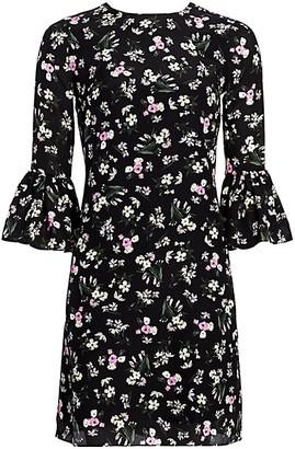 Erdem Elijah Daffodil Bouquet Bell Cuff Shift Dress