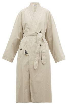 Balenciaga Judo Cotton-gabardine Trench Coat - Womens - Beige