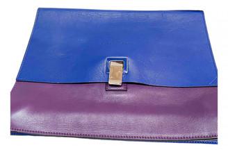 Proenza Schouler Lunch Blue Leather Clutch bags