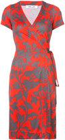 Diane von Furstenberg mini flower wrap dress