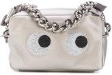 Anya Hindmarch eyes motif zipped clutch - women - Leather/Viscose/PVC - One Size