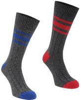 Firetrap Blackseal 2pk Chunky Ribbed Socks