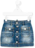 DSQUARED2 stonewash denim skirt